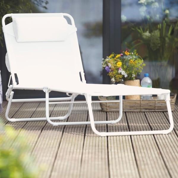amigo chaise longue d 39 ext rieur refermable. Black Bedroom Furniture Sets. Home Design Ideas